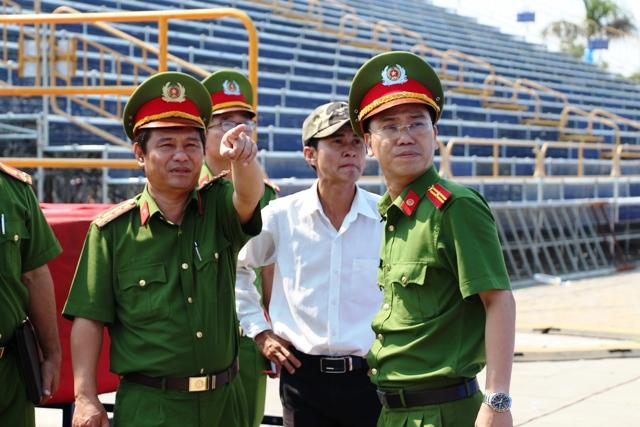 PCCC Da Nang: Kiểm tra an toàn tại khán đài cho lễ hội pháo hoa