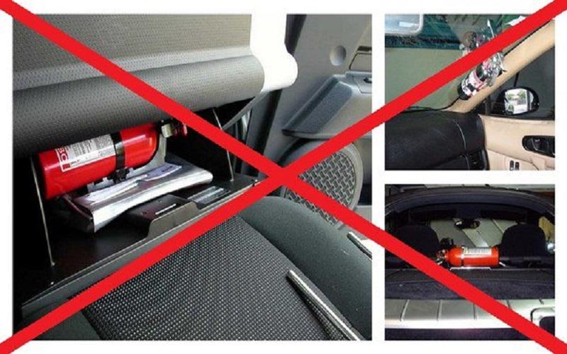 PCCC Da Nang: Những đồ vật trên ô tô dễ phát nổ trời nóng