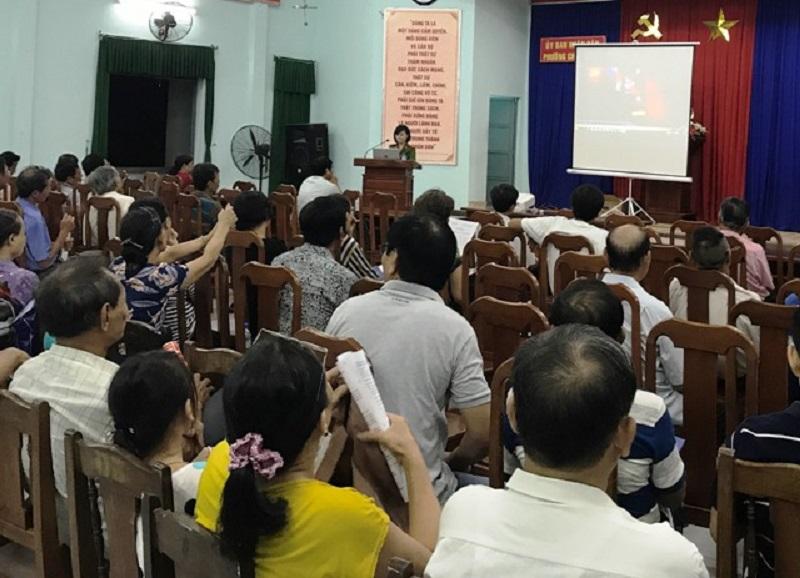 Tuyên truyền tại khu dân cư trên địa bàn quận Thanh Khê