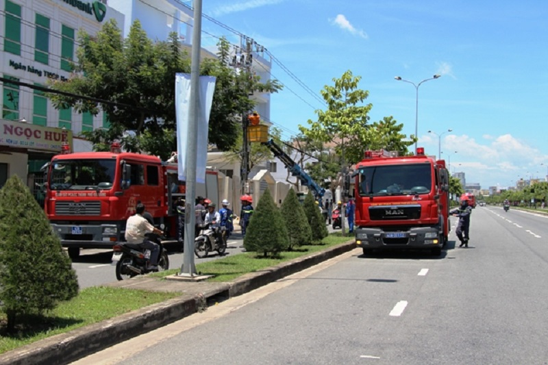 Cháy xảy ra tại chi nhánh ngân hàng Vietcombank