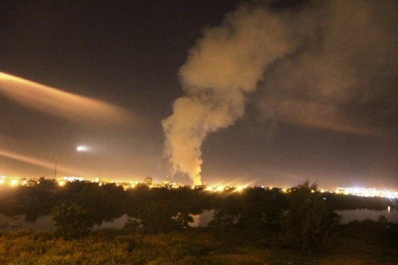 Cháy bãi tập kết cây xanh tại Đà Nẵng