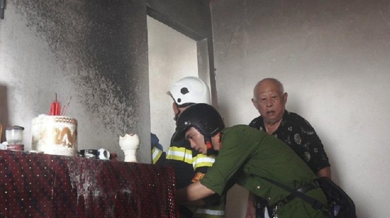 Chập điện bàn thờ gây cháy ở Đà Nẵng