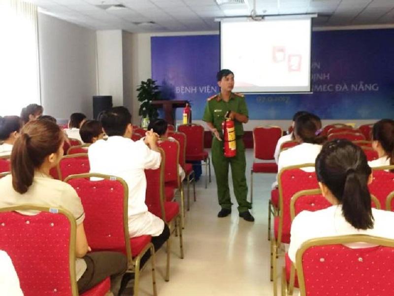 Tuyên truyền PCCC tại Bệnh viện Đa Khoa Quốc tế VINMEC Đà Nẵng