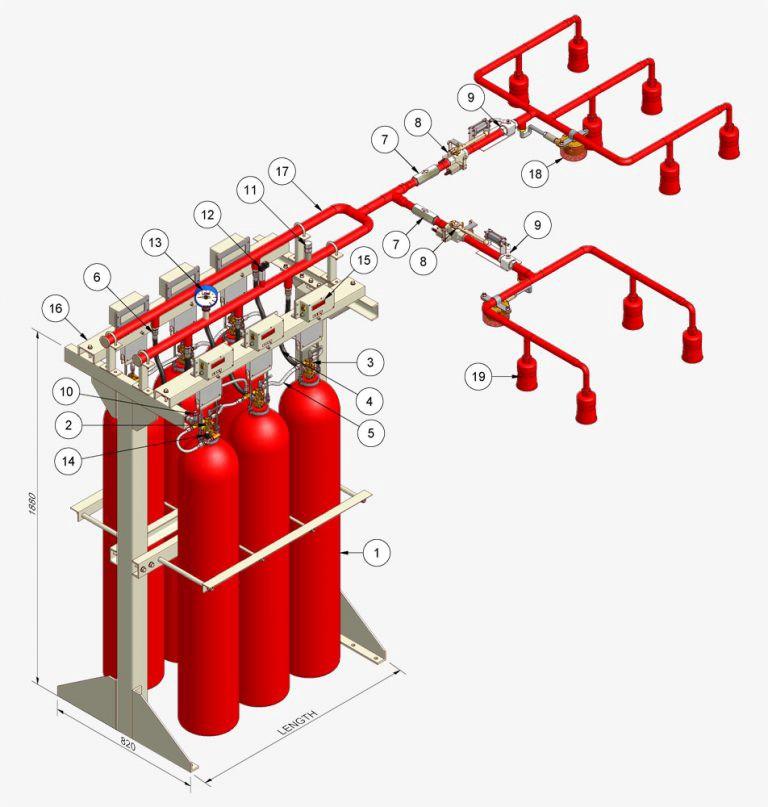 Hệ thống chữa cháy dạng khí